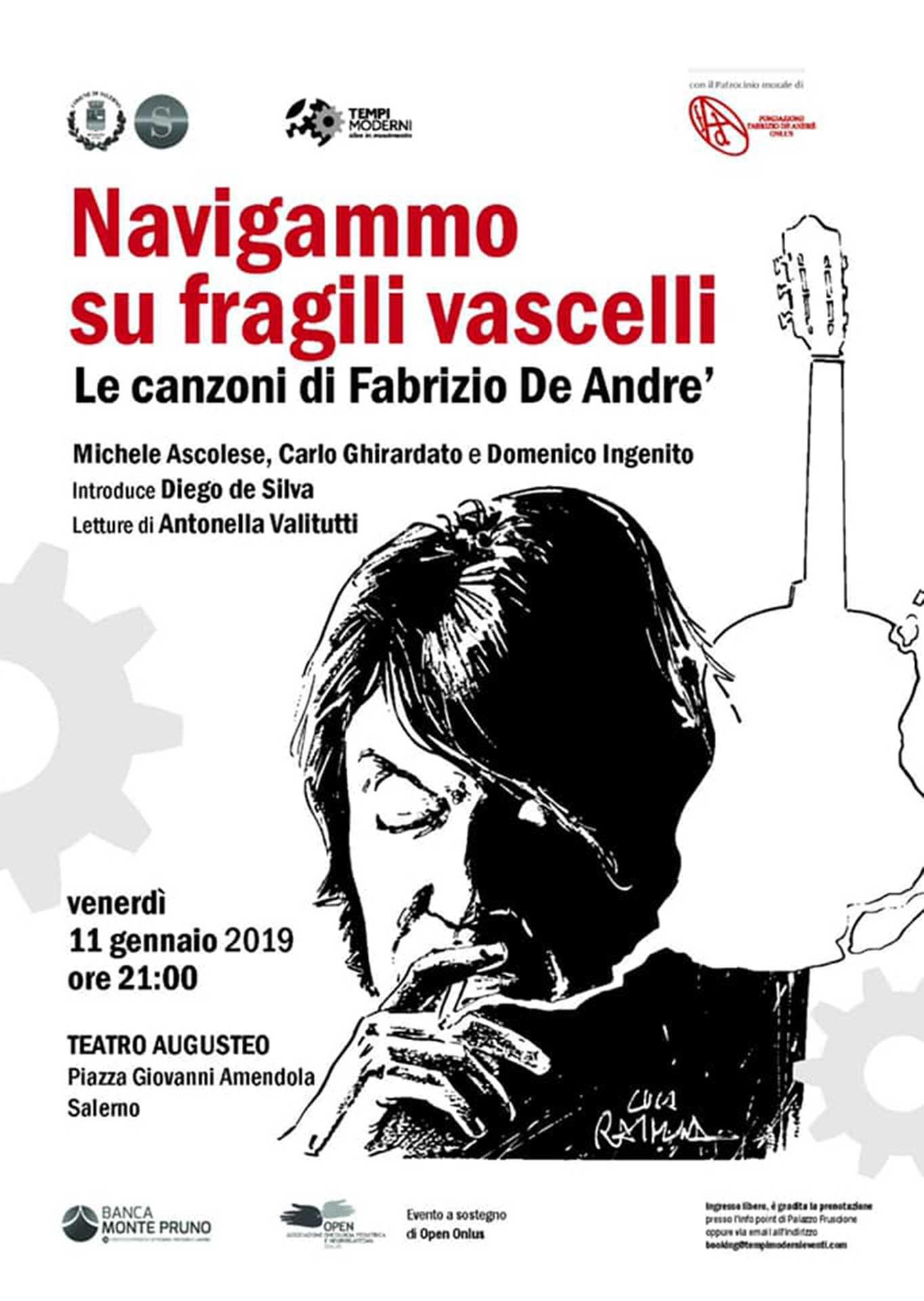Locandina tributo Fabrizio De André