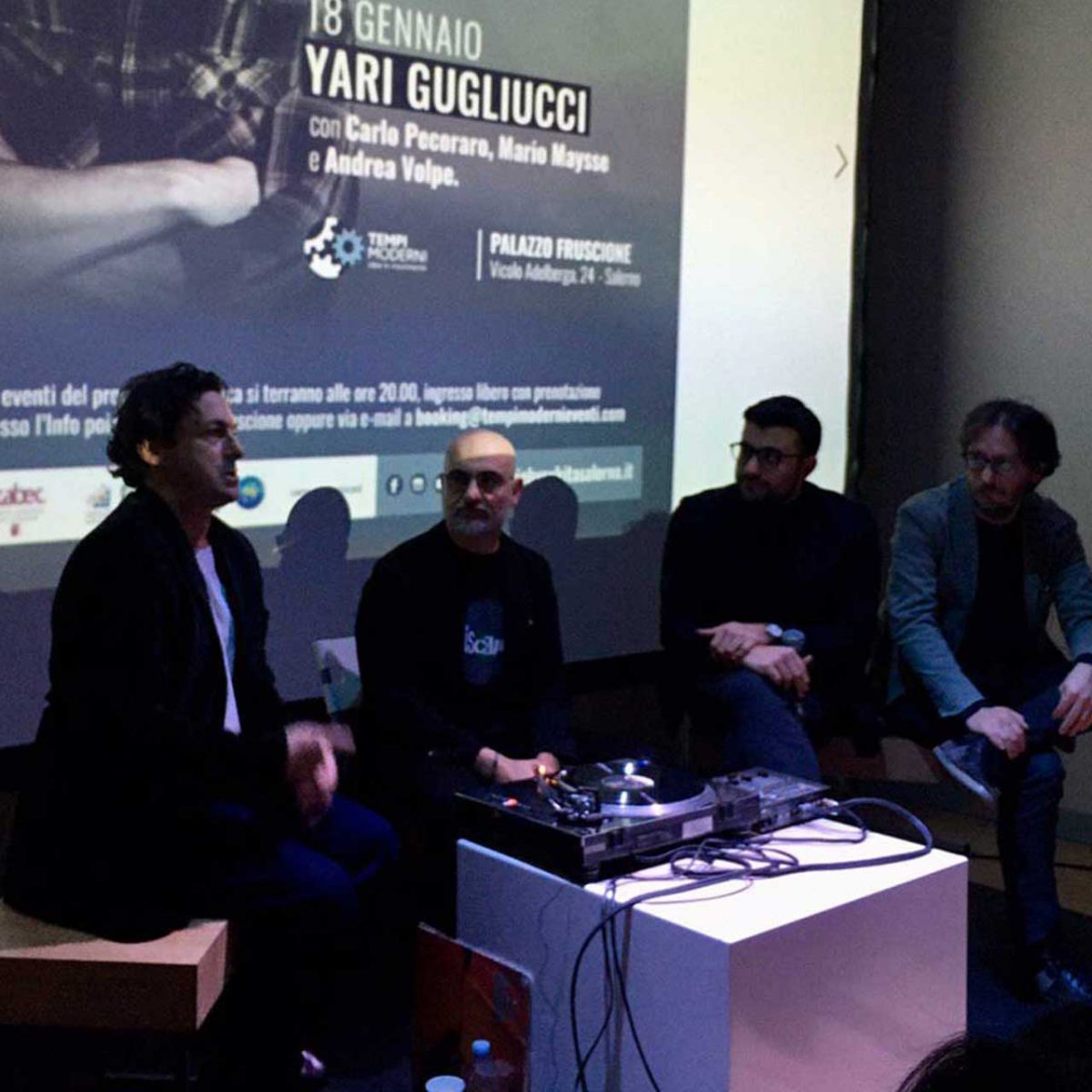 Yary Gugliucci, con Carlo Pecoraro, Mario Maysse e Andrea Volpe