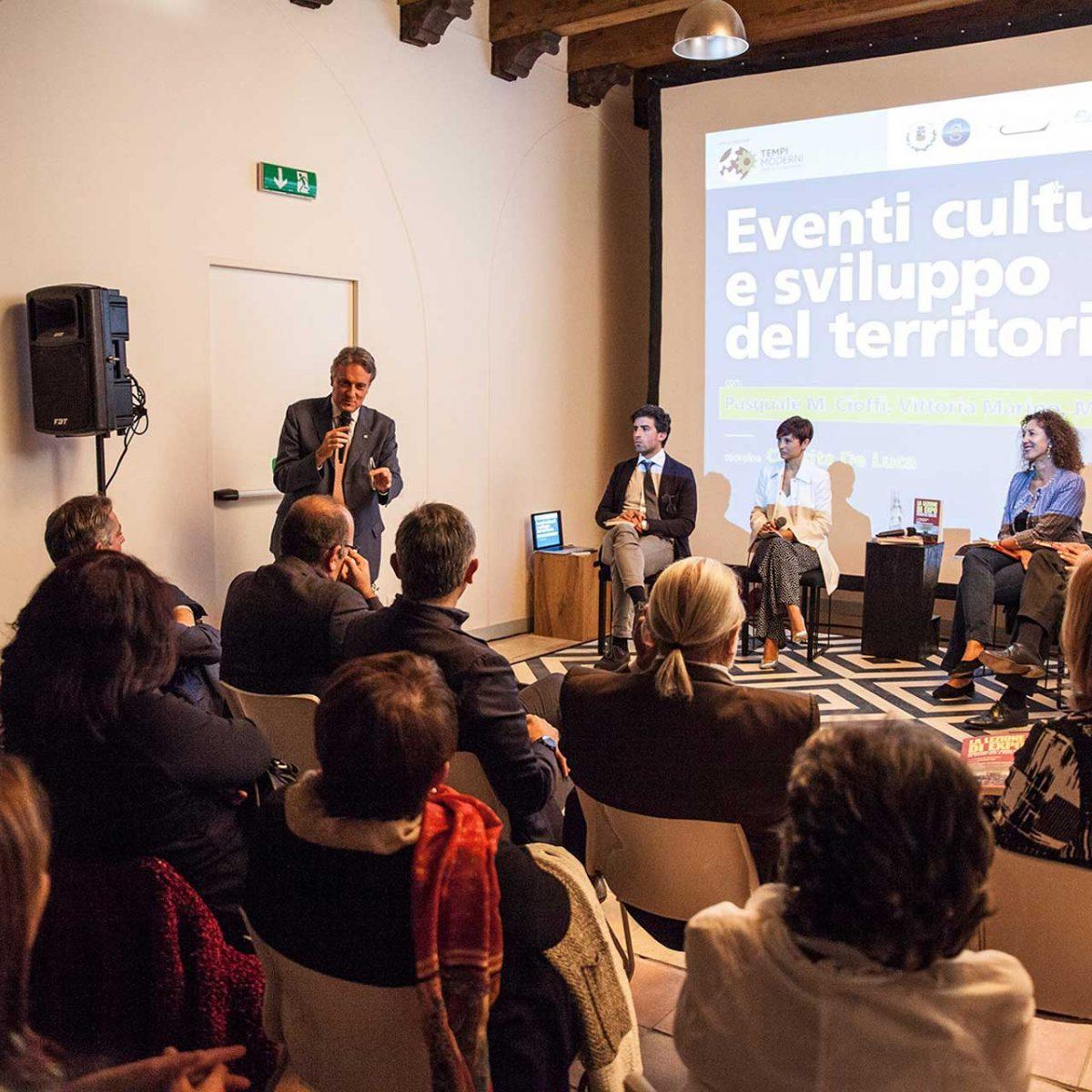 """""""Eventi culturali e sviluppo del territorio"""" con Pasquale Maria Cioffi, Vittoria Marino, Marco Navarra, Concita De Luca"""