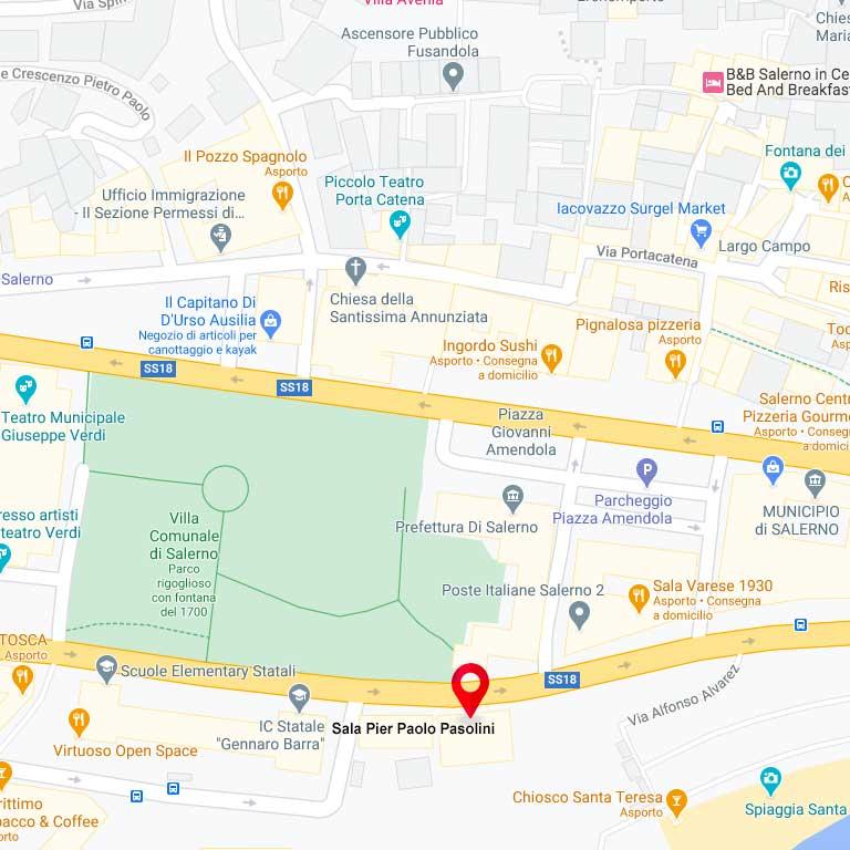 Maps Sala Pier Paolo Pasolini