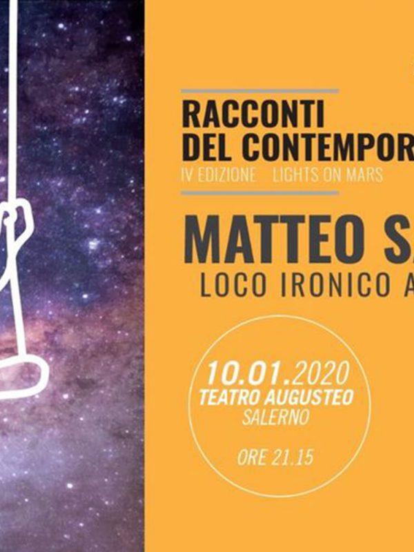 Cover 10 gennaio 2020 concerto Matteo Saggese