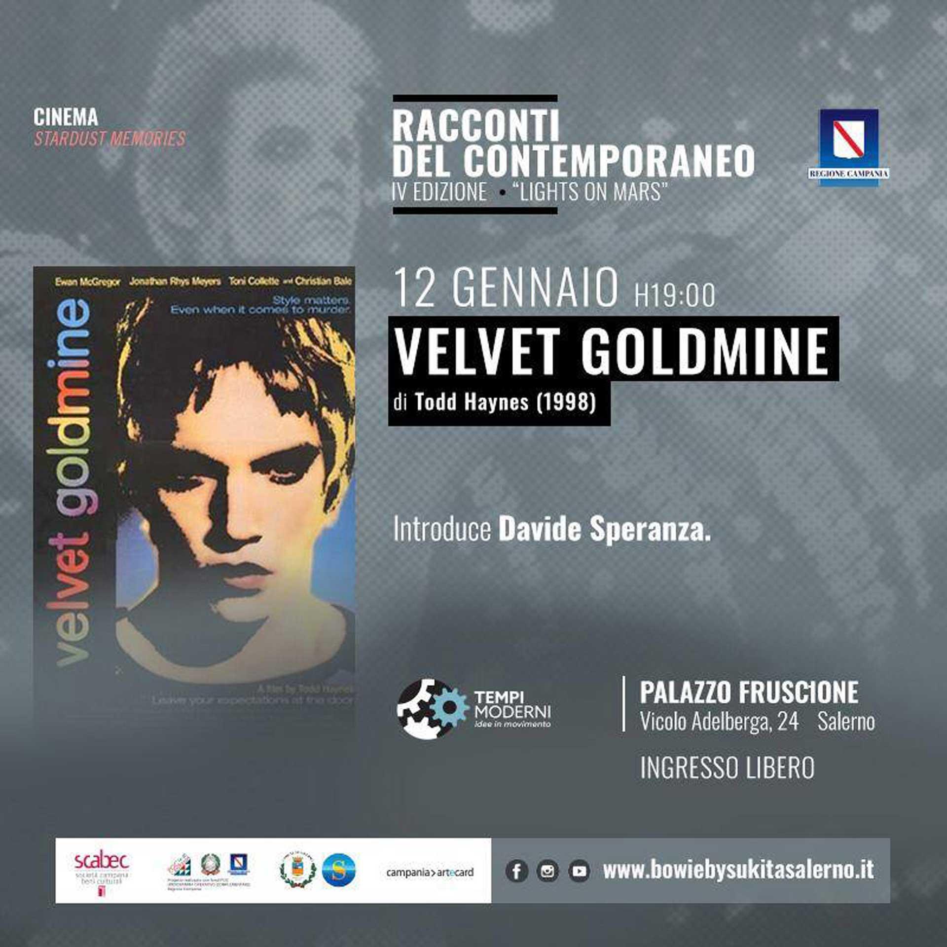 12 gennaio 2020 Velvet Goldmine