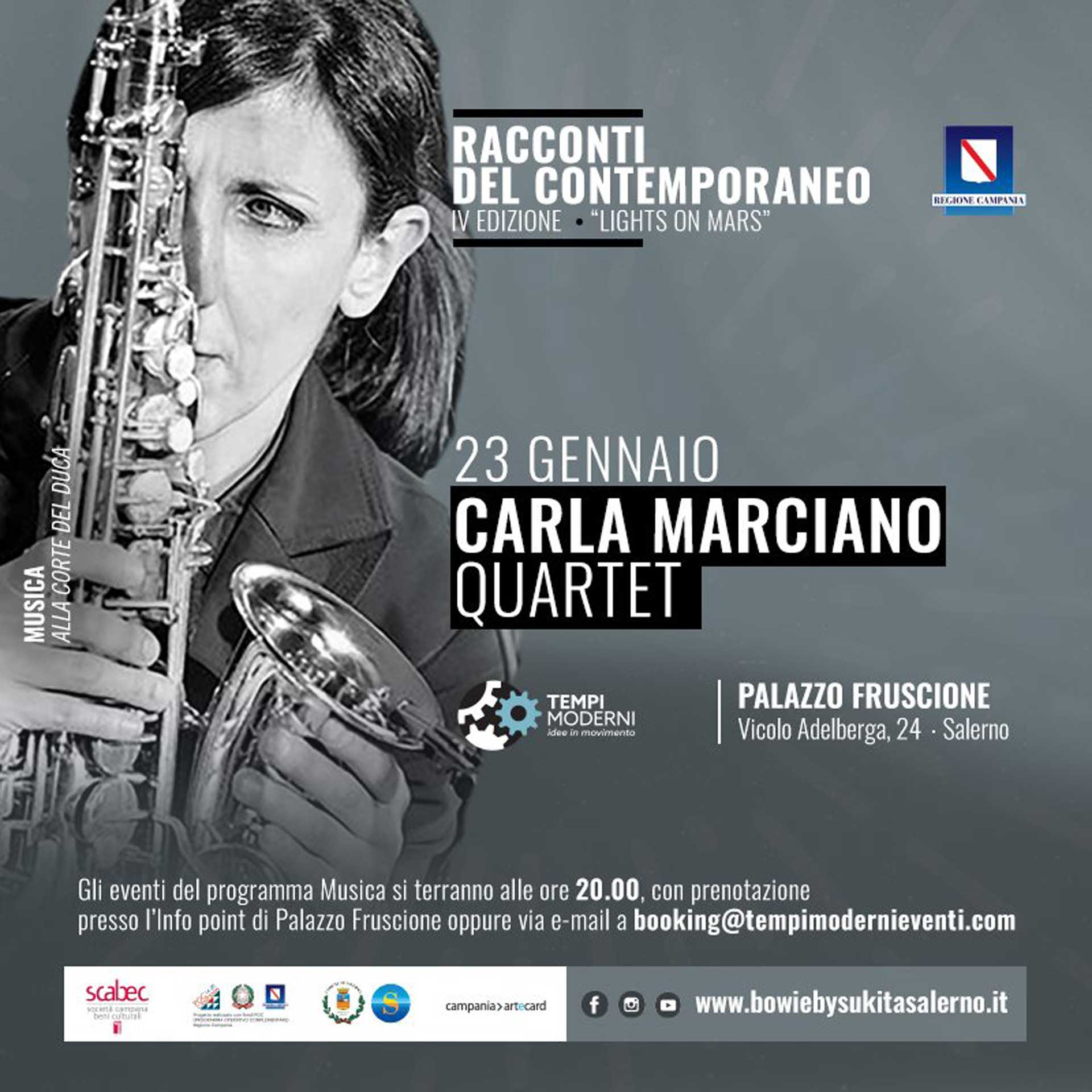 Cover 23 gennaio 2020 Carla Marciano Quartet