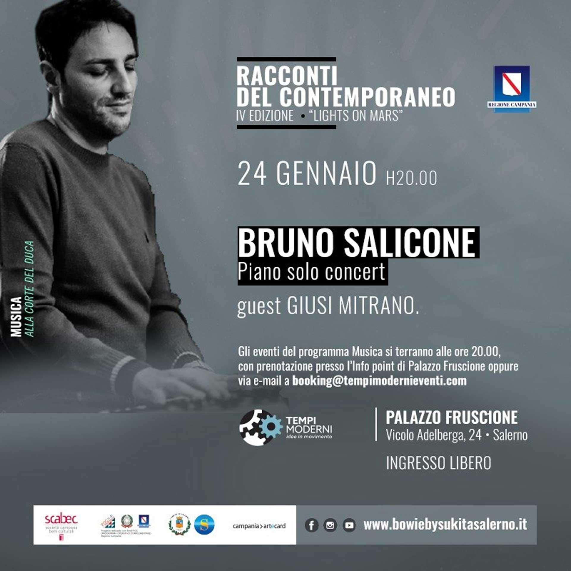 Cover 24 gennaio 2020 Bruno Salicone Piano solo concert