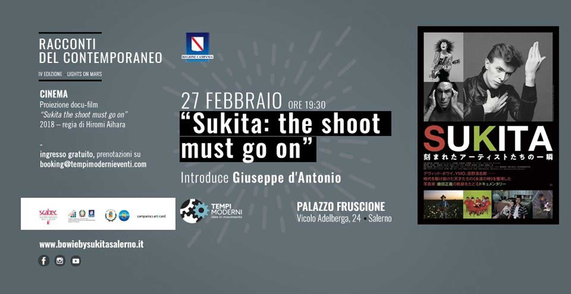 Cover 27 febbraio 2020 Sukita: the shoot must go on