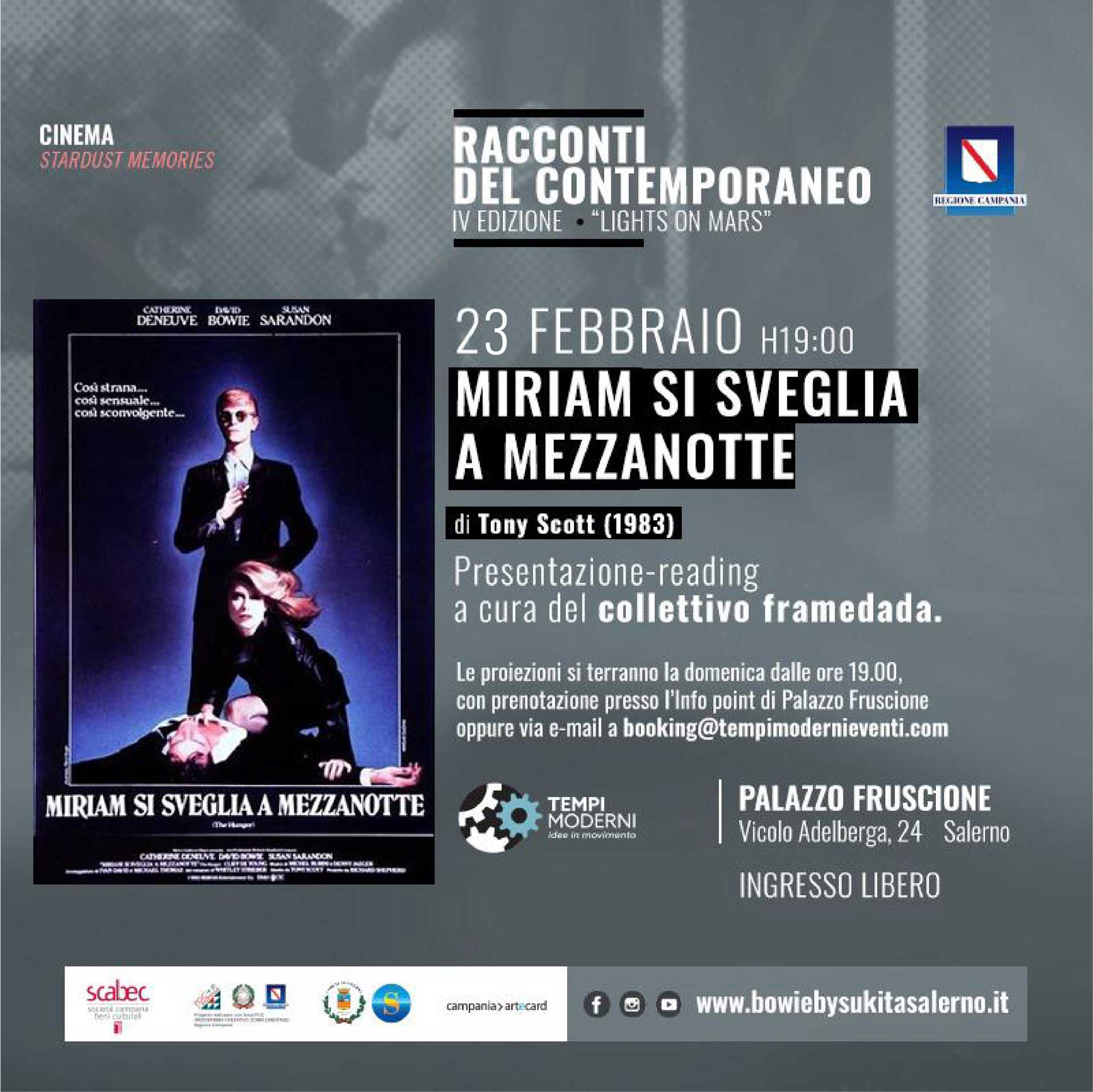 Cover 23 Febbraio 2020 film Miria si sveglia a mezzanotte