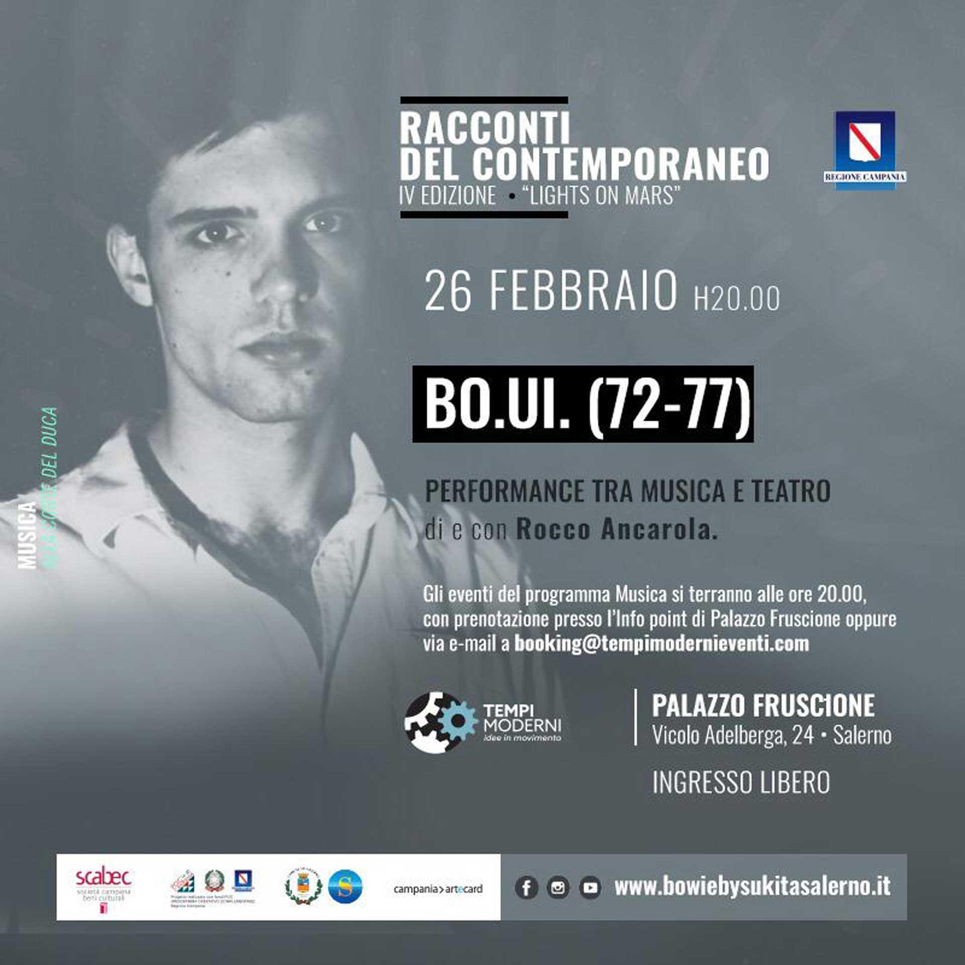 Cover 26 Febbraio BO.UI. con Rocco Ancarola