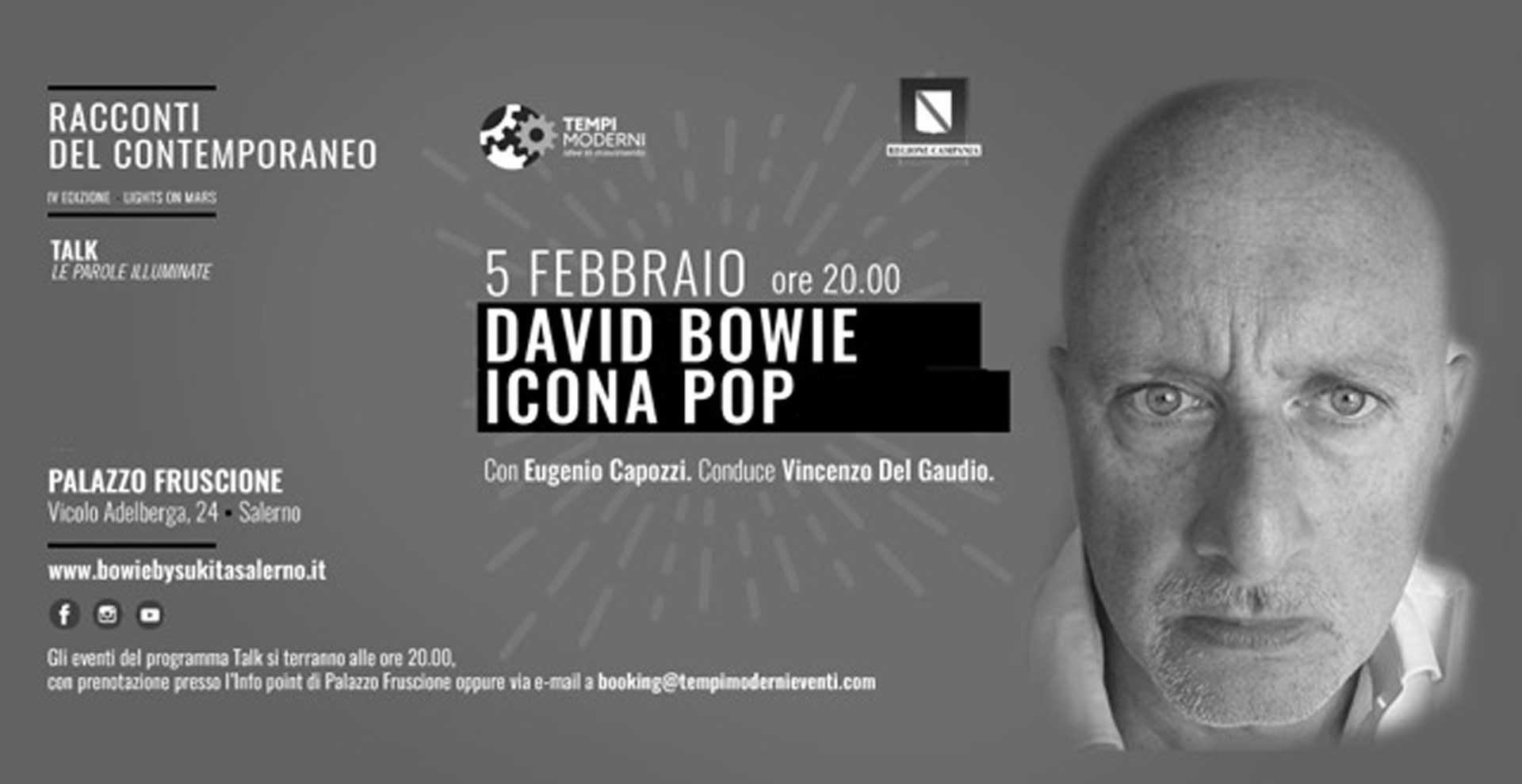 Cover 5 febbraio 2020 Capozzi per David Bowie icona Pop