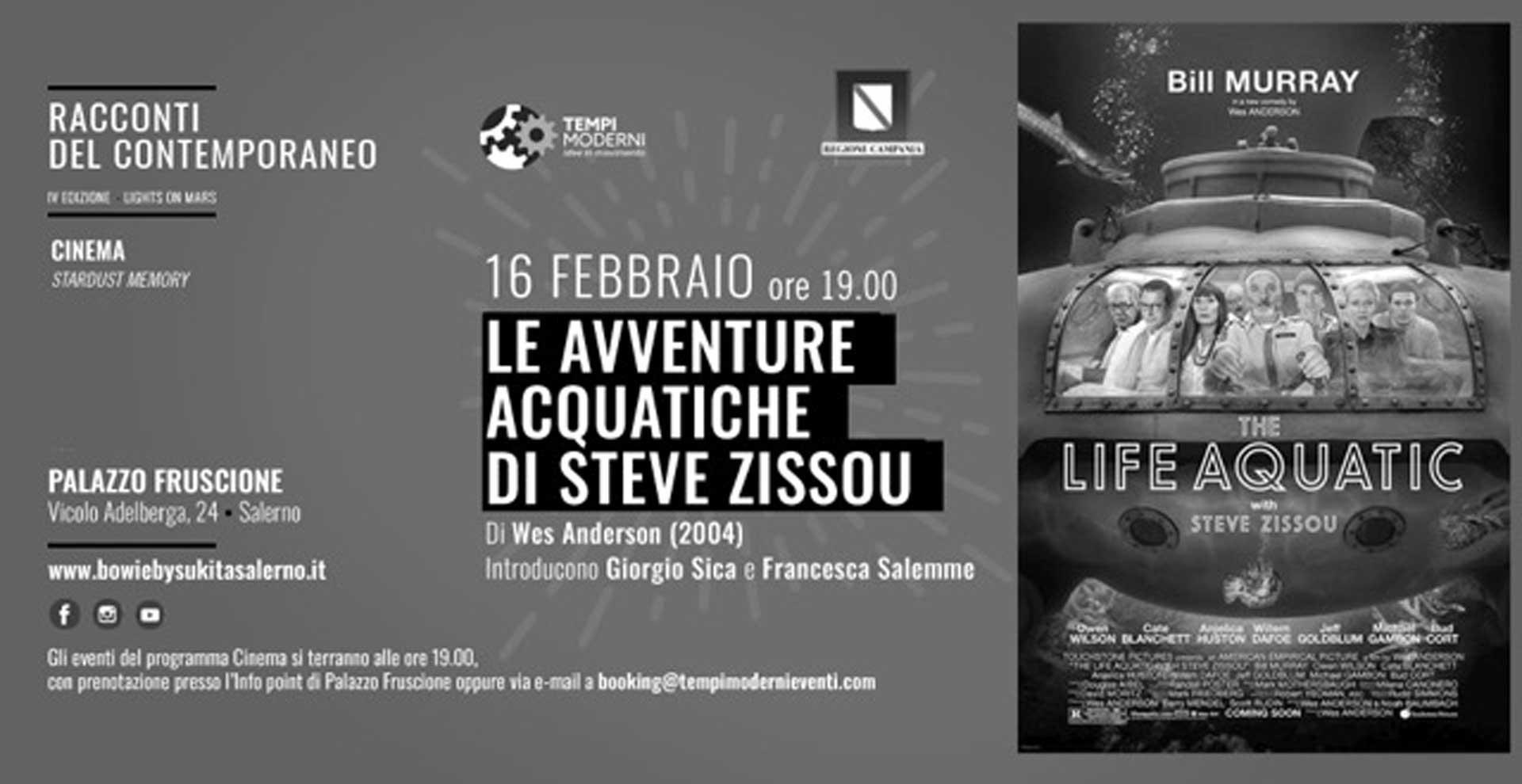 Cover 16 Febbraio 2020 film Le avventure acquatiche di Steve Zissou