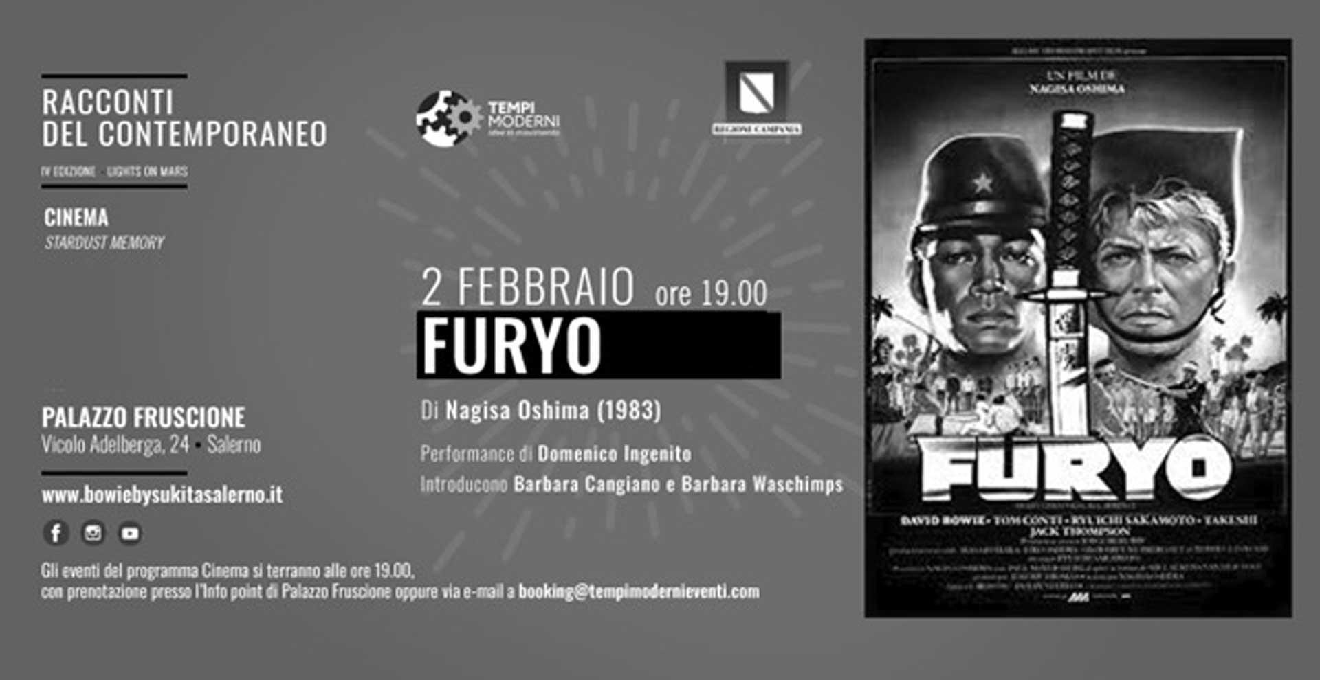 cover 2 febbraio 2020 proiezione Film Furyo