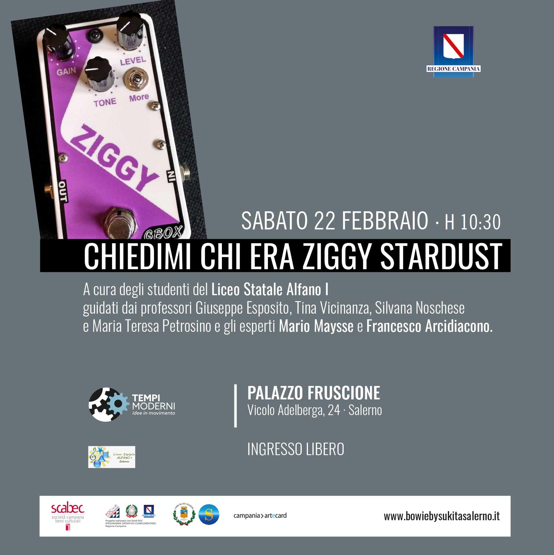 Cover 22 Febbraio 2020 Chiedimi chi era Ziggy Stardust