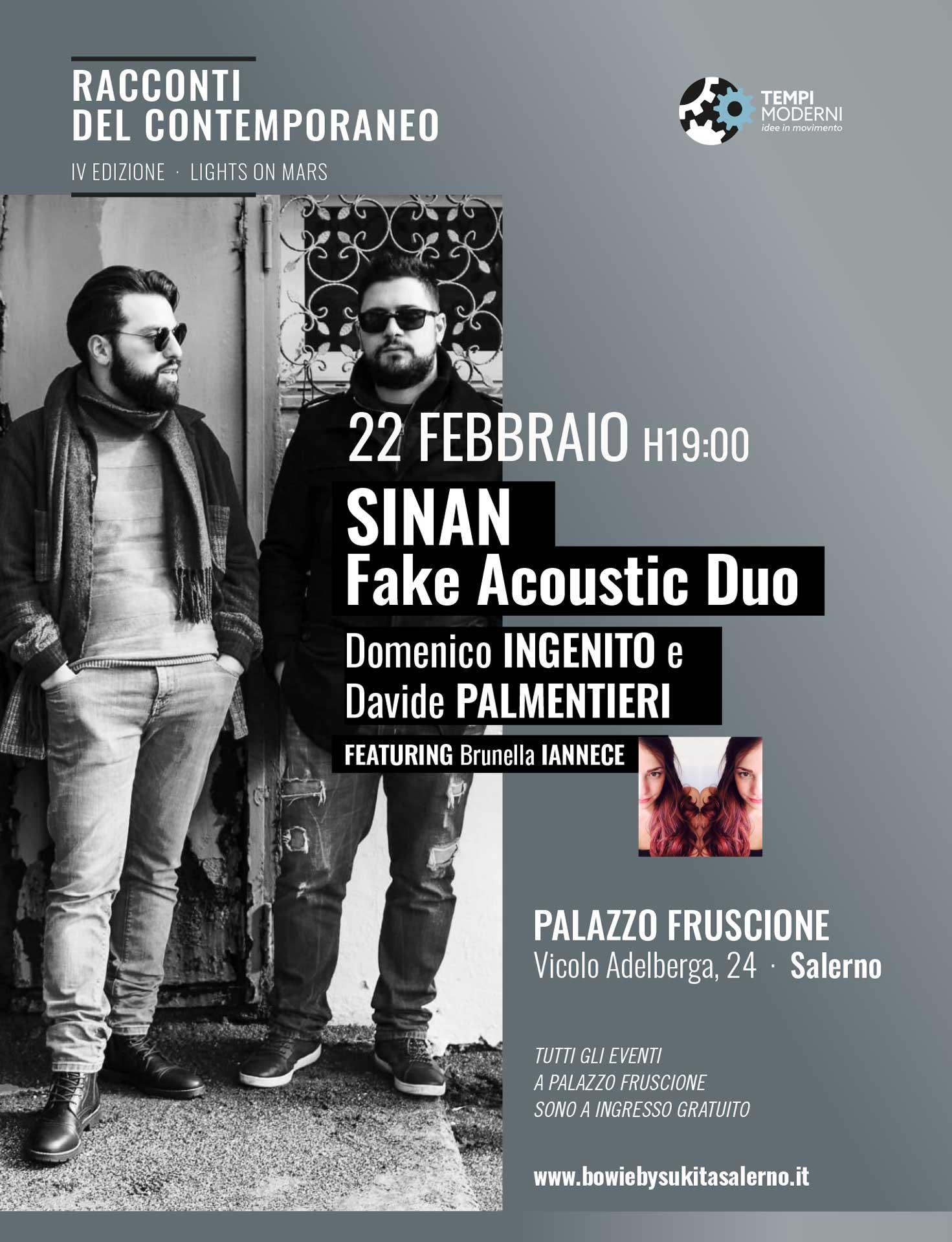 Locandina 22 Febbraio 2020 SINAN Fake acoustic Duo