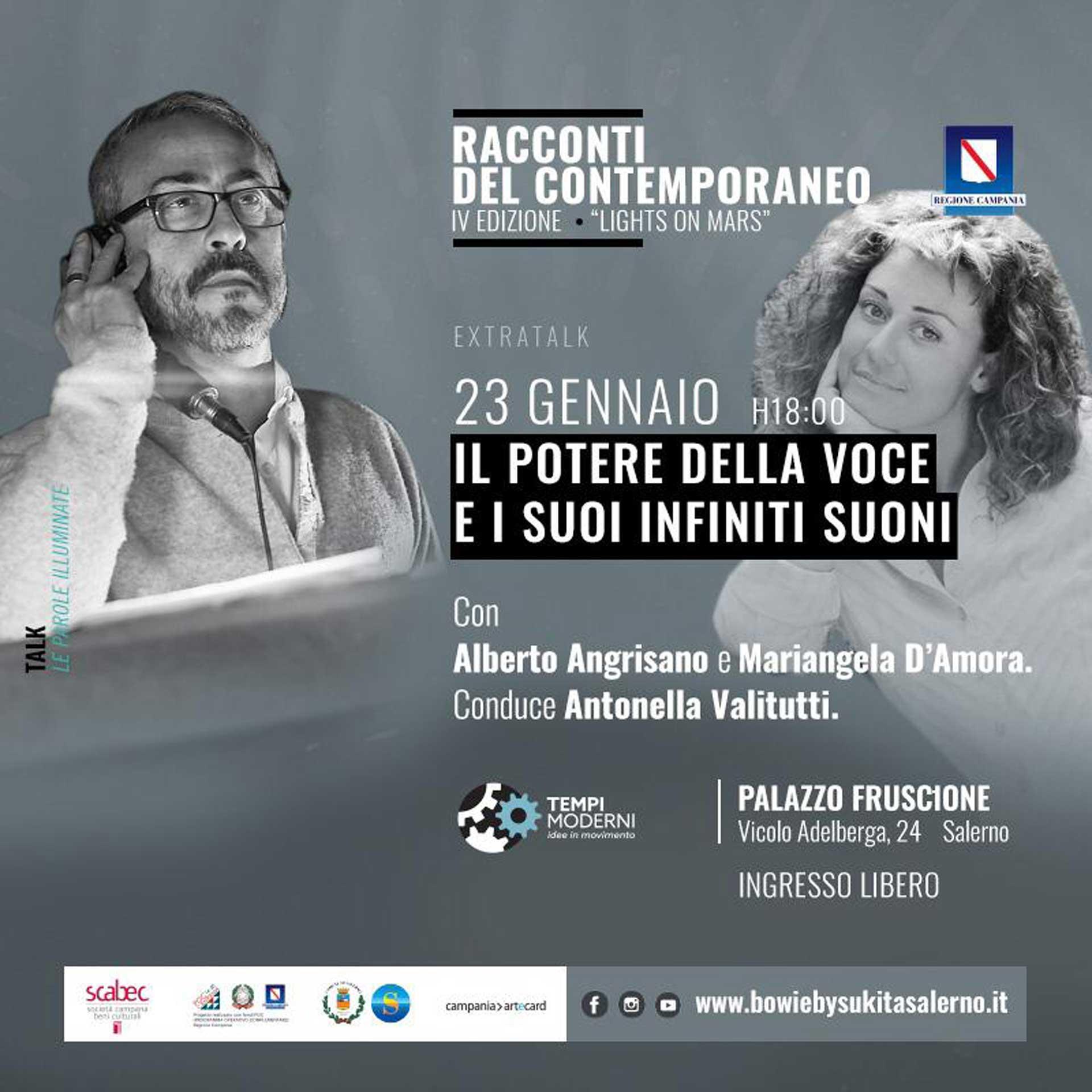 Locandina 23 gennaio 2020 extratalk Angrisano e D'Amora