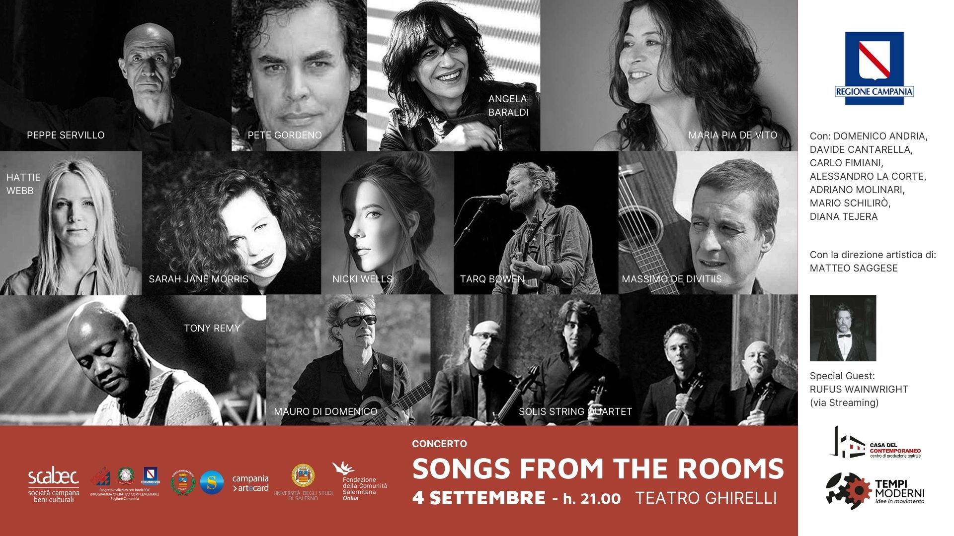 Songs from the rooms, evento del 4 settembre