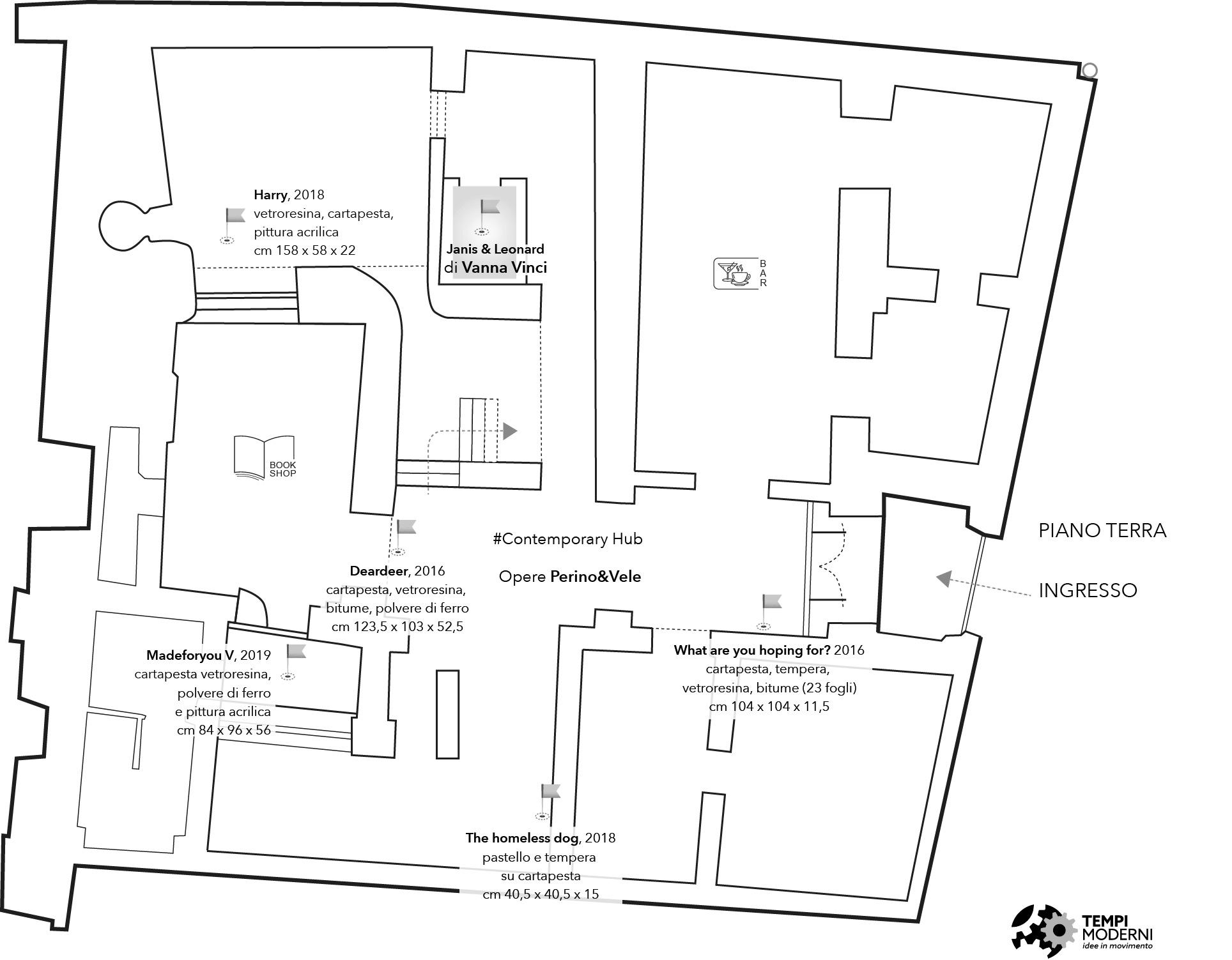 Mappa Piano terra di Palazzo Fruscione a Salerno