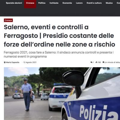L'Occhio di Salerno 12/08/2021